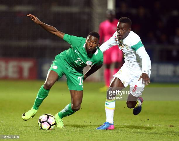 Wilfred Ndidi of Nigeria during International Friendly match between Nigeria against Senegal at The Hive Barnet FC on 23rd March 2017