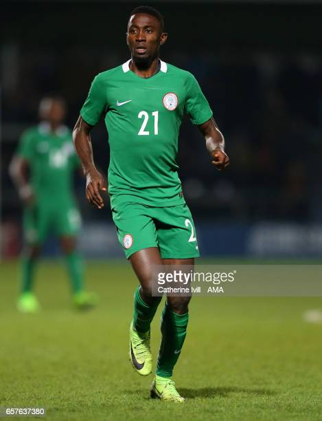 Wilfred Ndidi of Nigeria during the International Friendly match between Nigeria and Senegal at The Hive on March 23 2017 in Barnet England