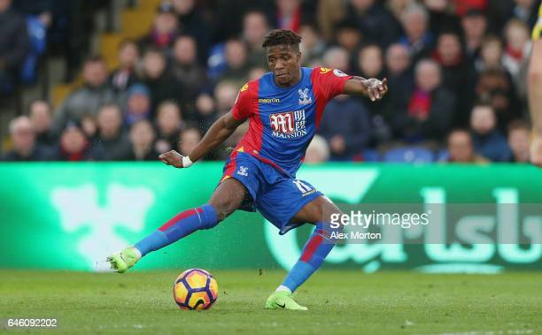 Wilfred Zaha of Crystal Palace during the Premier League match between Crystal Palace and Middlesbrough at Selhurst Park on February 25 2017 in...