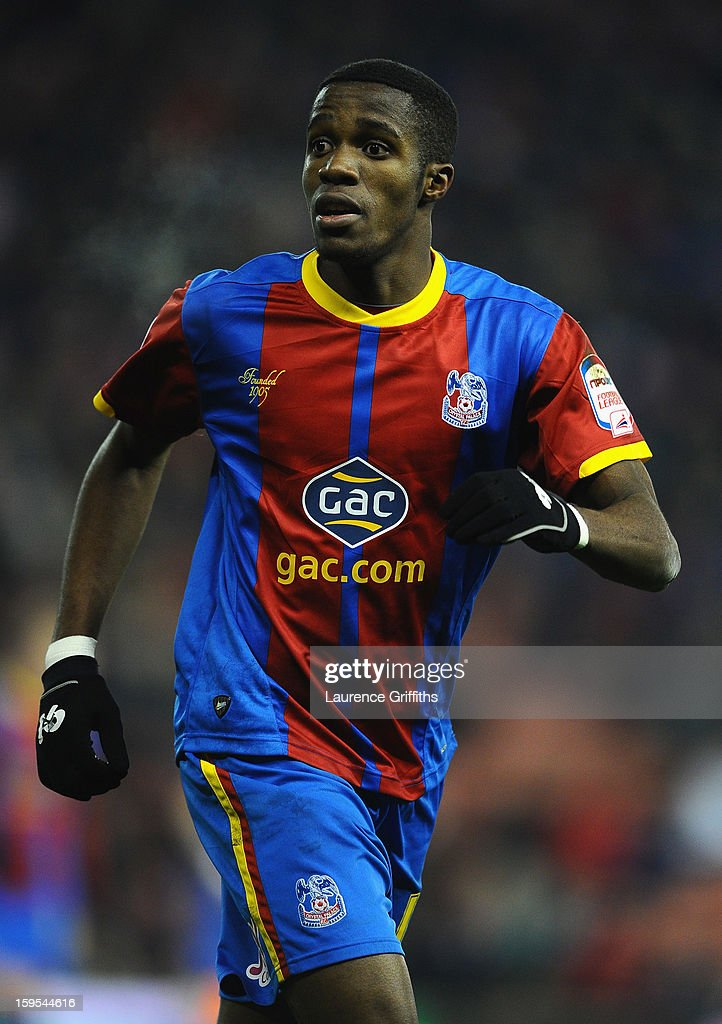 Wilfred Zaha of Crystal Palace in action during the FA Cup with Budweiser Third Round replay match between Stoke City and Crystal Palace at Britannia Stadium on January 15, 2013 in Stoke on Trent, England.