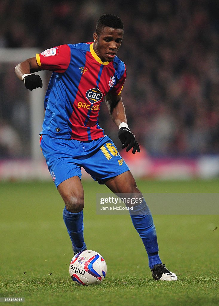 Wilfred Zaha of Crystal Palace in action during the npower Championship match between Crystal Palace and Hull City at Selhurst Park on March 5, 2013 in London, England.