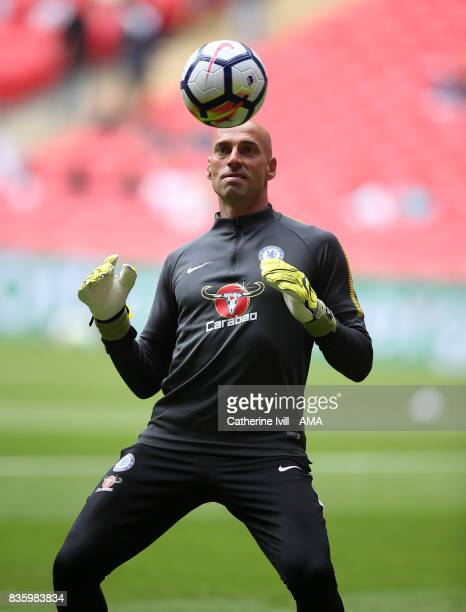 Wilfredo Caballero of Chelsea during the Premier League match between Tottenham Hotspur and Chelsea at Wembley Stadium on August 20 2017 in London...