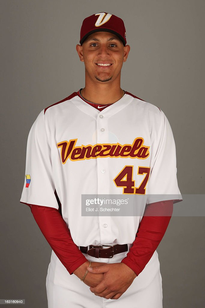 Wilfredo Ledezma #47 of Team Venezuela poses for a headshot for the 2013 World Baseball Classic at Roger Dean Stadium on Monday, March 4, 2013 in Jupiter, Florida.