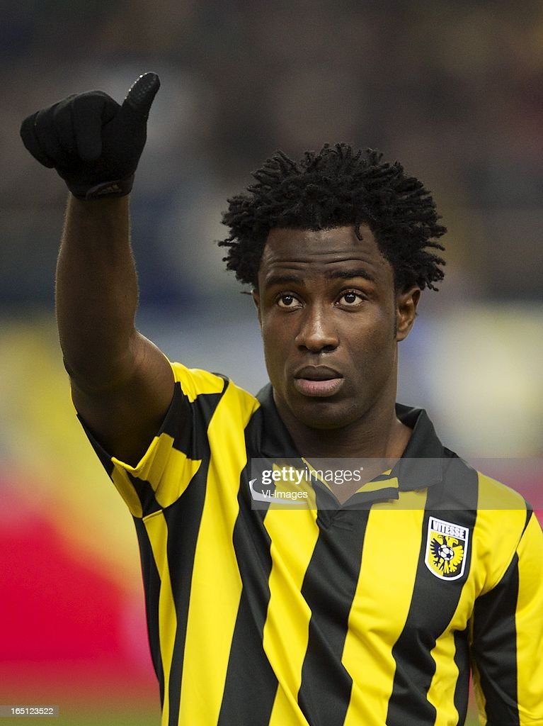 Wilfried Bony of Vitesse during the Dutch Eredivisie match between Vitesse Arnhem and PEC Zwolle at the Gelredome on march 31, 2013 in Arnhem, The Netherlands