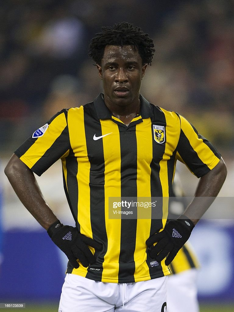 <a gi-track='captionPersonalityLinkClicked' href=/galleries/search?phrase=Wilfried+Bony&family=editorial&specificpeople=4231248 ng-click='$event.stopPropagation()'>Wilfried Bony</a> of Vitesse during the Dutch Eredivisie match between Vitesse Arnhem and PEC Zwolle at the Gelredome on march 31, 2013 in Arnhem, The Netherlands