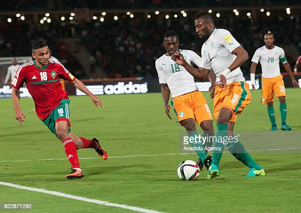 Wilfried Kanon of Ivory Coast in action during the 2018 World Cup qualifying Group C football match between Morocco and Ivory Coast at Marrakesh...
