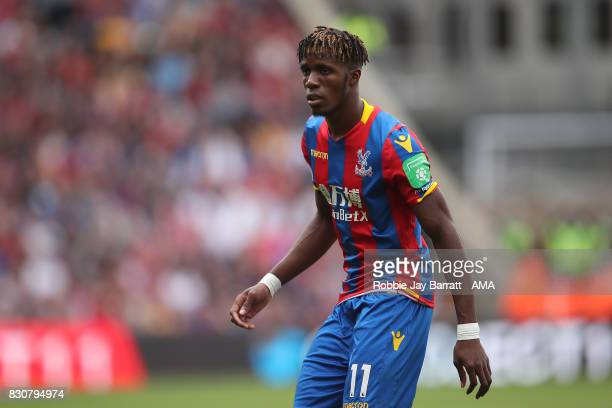 Wilfried Zaha of Crystal Palace during the Premier League match between Crystal Palace and Huddersfield Town at Selhurst Park on August 12 2017 in...