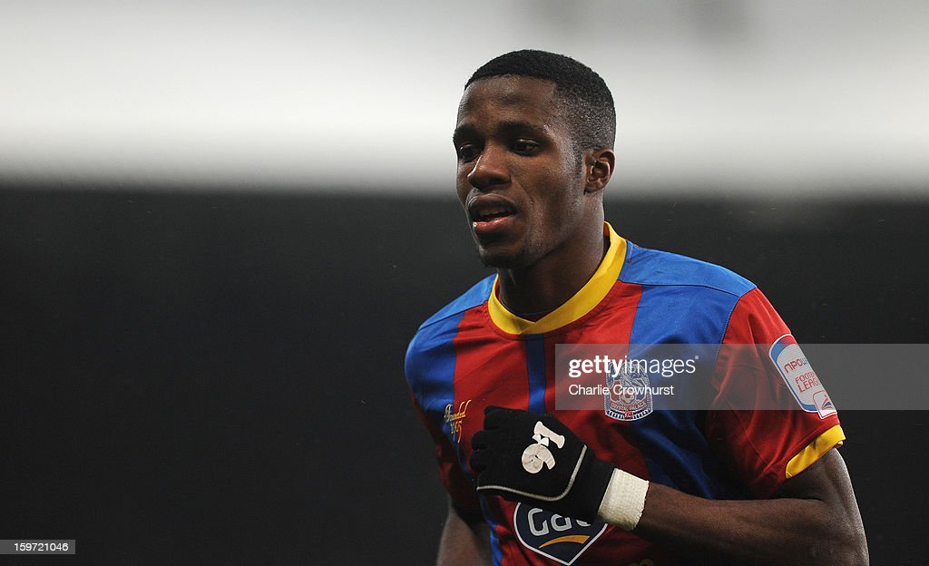 <a gi-track='captionPersonalityLinkClicked' href=/galleries/search?phrase=Wilfried+Zaha&family=editorial&specificpeople=7132531 ng-click='$event.stopPropagation()'>Wilfried Zaha</a> of Crystal Palace in action during the npower Championship match between Crystal Palace and Bolton at Selhurst Park on January 19, 2013 in London England.