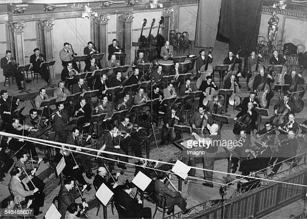Wilhelm Furtwaengler conducting the Vienna Philharmonic Wiener Musikverein Vienna About 1954 Photograph