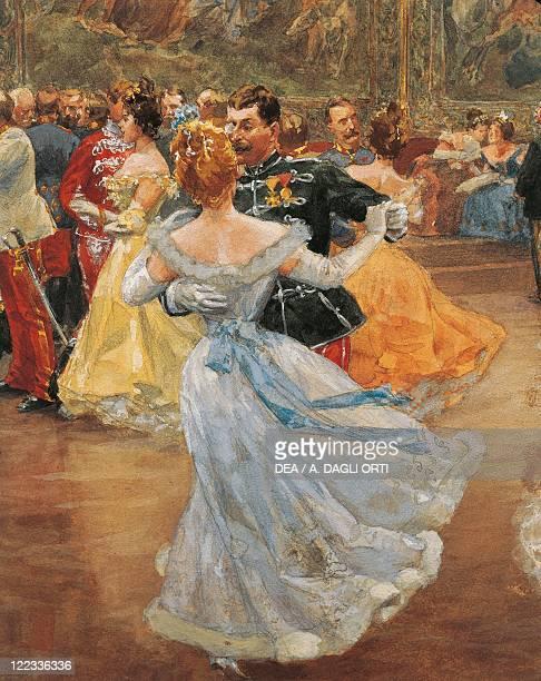 Wilhelm Gause Emperor Franz Joseph I of Austria at the Annual Viennese Ball Detail the waltz