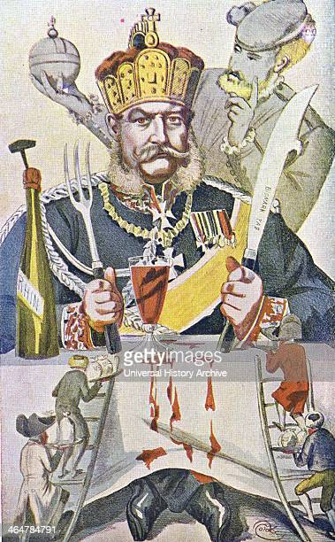 Wilhelm I King of Germany 1861 Emperor 1871Cartoon by Coide which appeared during the Siege of Paris 1870 1871 Franco Prussian War showing the...