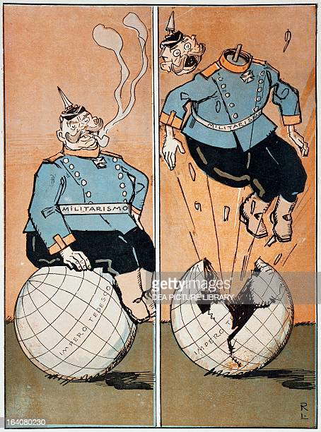 Wilhelm II Emperor of Germany in a satirical cartoon published in the magazine L'Asino April 2 1916 World War I 20th century