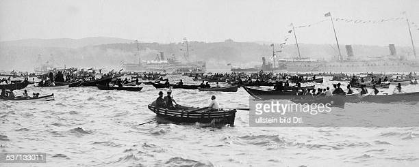 Wilhelm II German Emperor King of Prussia Oriental voyage October / November 1898 the landing of the Royal couple in Dolma Bagdshe in Constantinople...