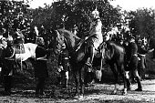 Wilhelm II German Kaiser during military manoeuvres near Berlin Grandson of Wilhelm I Son of Frederick III and Victoria née Royal Princess of Great...