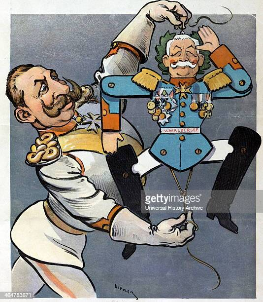 Wilhelm II holding strings of wooden jumping toy