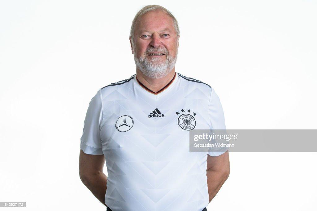 Wilhelm Klostermair poses during the Germany U17 team presentation on September 5, 2017 in Haarbach, Germany.