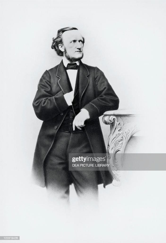 Wilhelm <a gi-track='captionPersonalityLinkClicked' href=/galleries/search?phrase=Richard+Wagner+-+Composer&family=editorial&specificpeople=118790 ng-click='$event.stopPropagation()'>Richard Wagner</a> (Leipzig, 1813 - Venice, 1883), German composer, conductor, librettist and essayist. Photographic portrait by Joseph Albert, Munich, November 11, 1864.