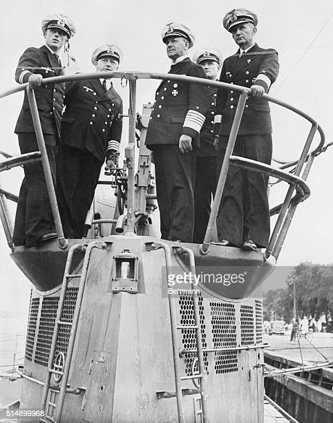 10/6/1939 Wilhelmshaven Germany From him a tip to Uncle Sam Pictured atop the conning tower of one of Germany's biggest submarines is Grand Admiral...