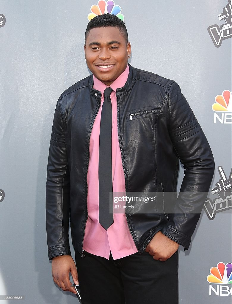 <a gi-track='captionPersonalityLinkClicked' href=/galleries/search?phrase=T.J.+Wilkins&family=editorial&specificpeople=12502732 ng-click='$event.stopPropagation()'>T.J. Wilkins</a> attends 'The Voice' Season 6 Top 12 Red Carpet Event on April 15, 2014 in Universal City, California.
