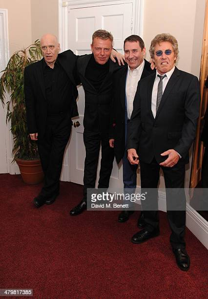 Wilko Johnson Suggs Jools Holland and Roger Daltrey attends 'An Evening With Suggs and Friends' for Pancreatic Cancer UK at the Porchester Hall on...