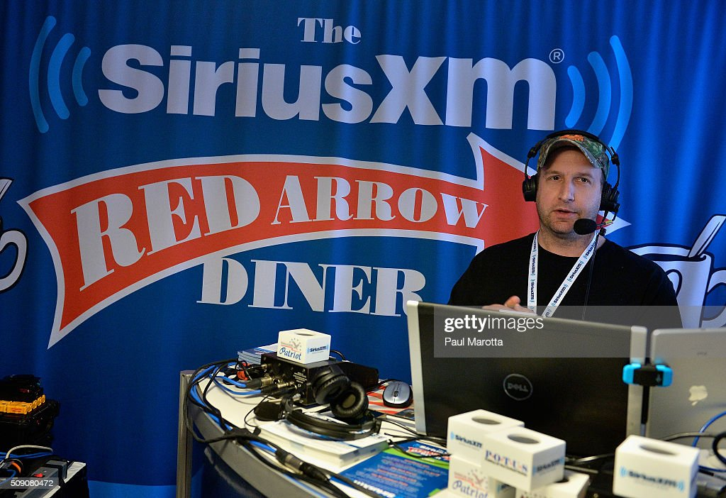 Wilkow Majority Host Andrew Wilkow on air for SiriusXM Broadcasts' New Hampshire Primary Coverage Live From Iconic Red Arrow Diner on February 8, 2016 in Manchester, New Hampshire.