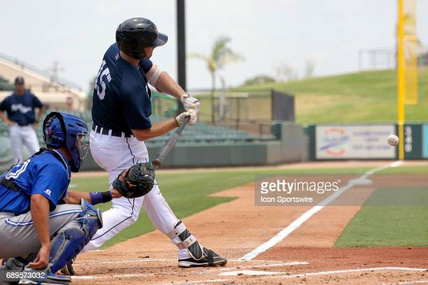 Will Allen of the Flying Tigers at bat during the Florida State League game between the Dunedin Blue Jays and the Lakeland Flying Tigers on May 28 at...