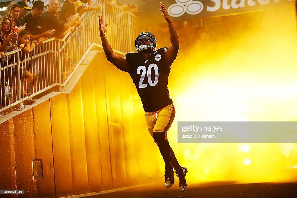 Will Allen of the Pittsburgh Steelers takes the field during introductions prior to the preseason game against the Carolina Panthers at Heinz Field...