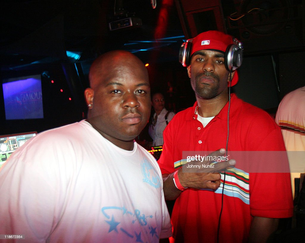 DJ Will and DJ Clue during 2007 NBA Draft Party Hosted by Carmelo Anthony Fabolous and DJ Clue June 28 2007 in New York City New York United States