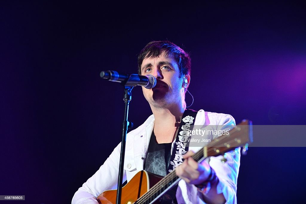 Will Anderson of the band Parachute performs in the 7th Annual No Snow Ball concert presented by 97.9 WRMF and Sunny 107.9 at Mizner Park Amphitheatre on December 14, 2013 in Boca Raton, Florida.