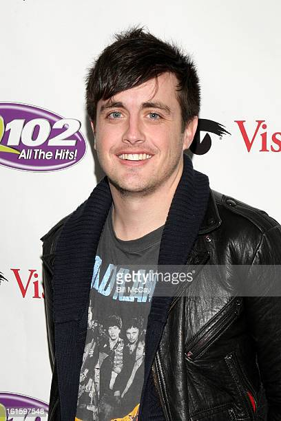 Will Anderson of the band Parachute poses at Q102 iHeartRadio Performance Theater February 12 2013 in Bala Cynwyd Pennsylvania