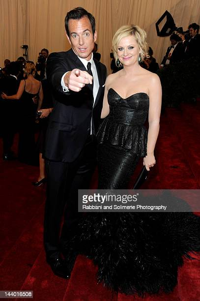 Will Arnett and Amy Poehler attends the 'Schiaparelli And Prada Impossible Conversations' Costume Institute Gala at the Metropolitan Museum of Art on...