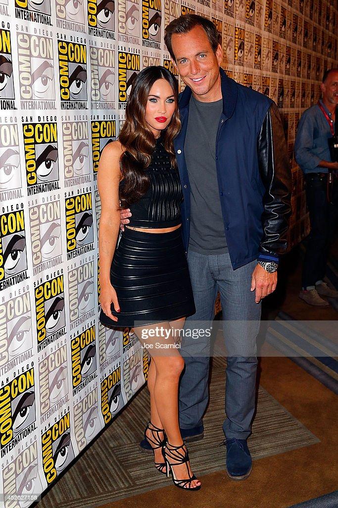 Will Arnett and Megan Fox attend the 'Teenage Mutant Ninja Turtles' press line at Comic-Con International 2014 - Day 1 on July 24, 2014 in San Diego, California.