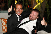 Will Arnett and Ricky Gervais attend The Weinstein Company Netflix's 2015 Golden Globes After Party presented by FIJI Water Lexus Laura Mercier and...