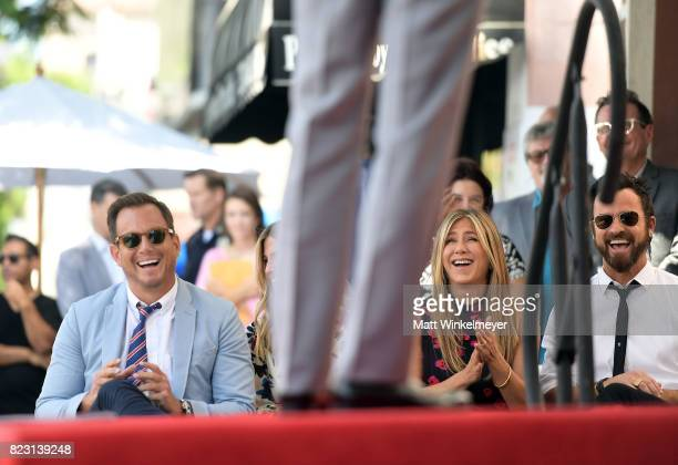 Will Arnett Jennifer Aniston and Justin Theroux attend The Hollywood Walk of Fame Star Ceremony honoring Jason Bateman on July 26 2017 in Hollywood...