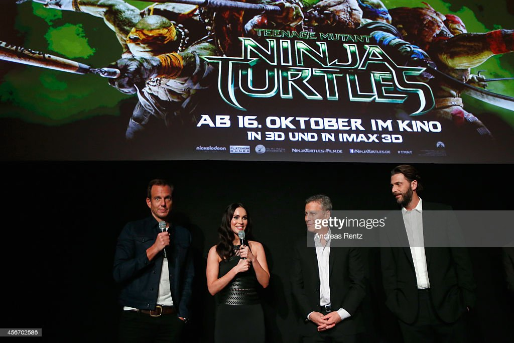 Will Arnett, Megan Fox, Brad Fuller and Andrew Form attend the Underground Event Screening of Paramount Pictures' 'TEENAGE MUTANT NINJA TURTLES' at UFO Sound Studios on October 5, 2014 in Berlin, Germany.