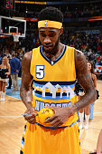 Will Barton of the Denver nuggets after the game against the Sacramento Kings on April 12 2015 at the Pepsi Center in Denver Colorado NOTE TO USER...