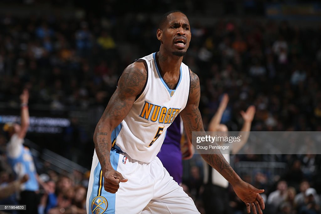 Will Barton of the Denver Nuggets celebrates a basket against the Sacramento Kings at Pepsi Center on February 23 2016 in Denver Colorado The Kings...