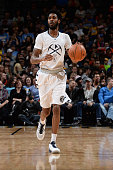 Will Barton of the Denver Nuggets dribbles the ball against the Miami Heat on January 15 2016 at the Pepsi Center in Denver Colorado NOTE TO USER...