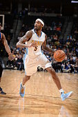 Will Barton of the Denver Nuggets dribbles the ball against the New York Knicks on March 8 2016 at the Pepsi Center in Denver Colorado NOTE TO USER...