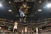 Will Barton of the Denver Nuggets dunks against the Indiana Pacers on January 30 2016 at Bankers Life Fieldhouse in Indianapolis Indiana NOTE TO USER...