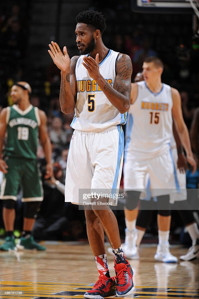 Will Barton of the Denver Nuggets during the game against the Milwaukee Bucks on November 11 2015 at the Pepsi Center in Denver Colorado NOTE TO USER...