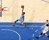 Will Barton of the Denver Nuggets goes to the basket during the game against the New York Knicks on February 7 2016 at Madison Square Garden in New...