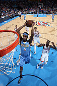 Will Barton of the Denver Nuggets goes up for a dunk against the Oklahoma City Thunder on February 22 2015 at the Chesapeake Energy Arena in Oklahoma...
