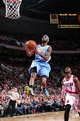Will Barton of the Denver Nuggets goes up for a shot against the Portland Trail Blazers on March 28 2015 at the Moda Center Arena in Portland Oregon...