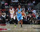 Will Barton of the Denver Nuggets handles the ball against the Atlanta Hawks on March 17 2016 at Philips Arena in Atlanta Georgia NOTE TO USER User...