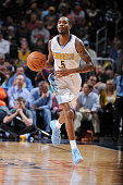 Will Barton of the Denver Nuggets handles the ball against the Memphis Grizzlies on February 29 2016 at the Pepsi Center in Denver Colorado NOTE TO...