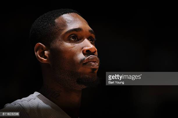 Will Barton of the Denver Nuggets looks on during the game against the Boston Celtics on February 21 2016 at the Pepsi Center in Denver Colorado NOTE...