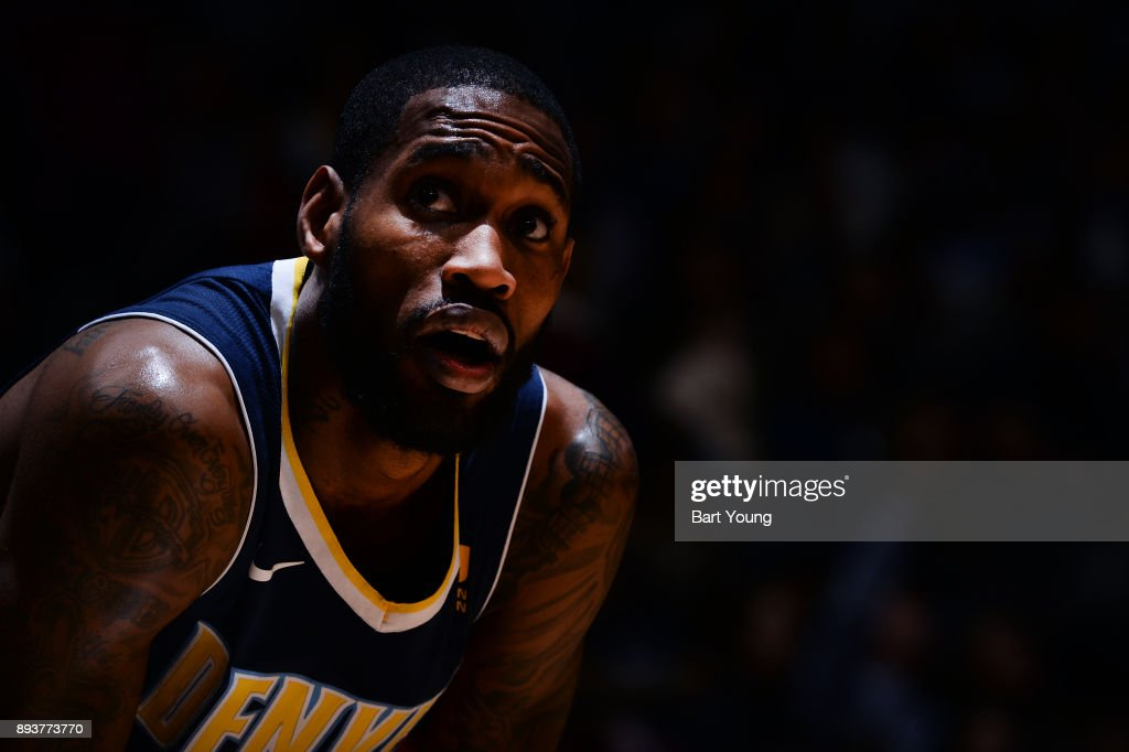Will Barton #5 of the Denver Nuggets looks on during the game against the New Orleans Pelicans on December 15, 2017 at the Pepsi Center in Denver, Colorado.