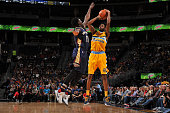 Will Barton of the Denver Nuggets shoots the ball against the New Orleans Pelicans on December 20 2015 at the Pepsi Center in Denver Colorado NOTE TO...