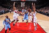 Will Barton of the Denver Nuggets shoots the ball against the Portland Trail Blazers on December 30 2015 at the Moda Center in Portland Oregon NOTE...